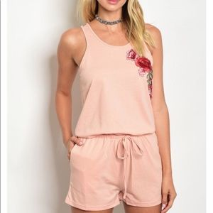 Pants - Flower Patch Romper $25